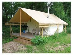Tent living ideas on pinterest wall tent viking tent for Tent platform construction