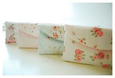 Set of Four - 4, Bridesmaid Gift Set, Bridesmaid Clutch Set, Wedding Party Favor, Shabby Chic