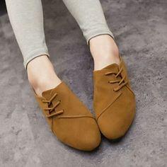 Mujer Zapatos Tejido Primavera   Verano   Otoño Confort Tacón Plano Con  Cordón Gris   Amarillo   Rojo 2019 - US  16.99 2c28b101cb10