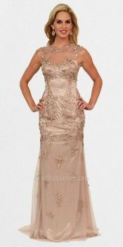 Illusion Neck and Back Art-Deco Ballgowns by Atria-image