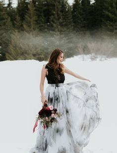 Planning a Halloween wedding? Or just love the edgy look of a black wedding dress? We've rounded up 32 of our favorite black wedding dresses that will totally make a statement on your wedding day. Say hello to the prettiest black wedding gowns you've ever seen. Lace Wedding Dress, Colored Wedding Dresses, Perfect Wedding Dress, Wedding Dress Styles, Designer Wedding Dresses, Wedding Attire, Wedding Shoes, Bridal Gowns, Wedding Gowns