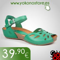 Cómodas, ideales y con un bonito diseño. Modelo Elena 003 verde, encuéntralo en nuestra tienda online.  Comfortable and ideal sandals, with a nice design. Model Elena green 003, find it in our online store.
