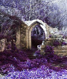 Art Photograph Landscape Purple Arch Print by SheIsAllArt on Etsy, £15.00