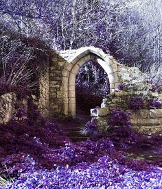 Art Photograph Landscape Purple Arch Print by SheIsAllArt on Etsy, £15.00
