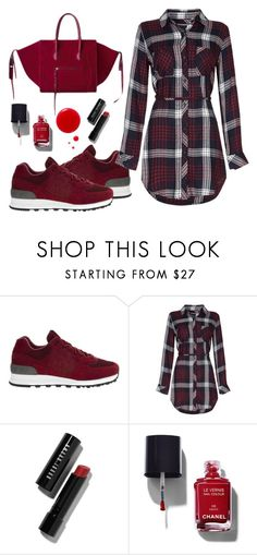 """""""Untitled #4470"""" by tatyanaoliveiratatiana ❤ liked on Polyvore featuring New Balance, Rails, CÉLINE, Bobbi Brown Cosmetics, Chanel and Benefit"""