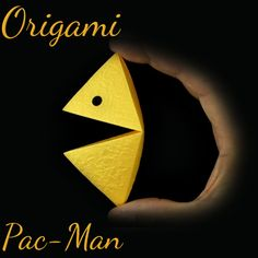 How to make an origami pac-man: page 1 Origami Models, Easy Origami, Oragami, Pac Man, 7th Birthday, How To Make, Paper Envelopes, Origami Easy