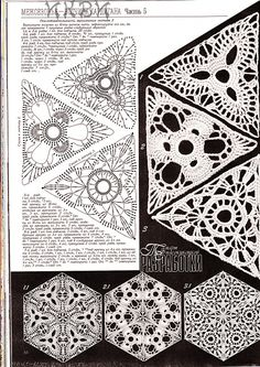 triangles diagrams crochet schemes