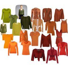 Farb-und Stilberatung mit www.farben-reich.com -  greens, oranges and reds