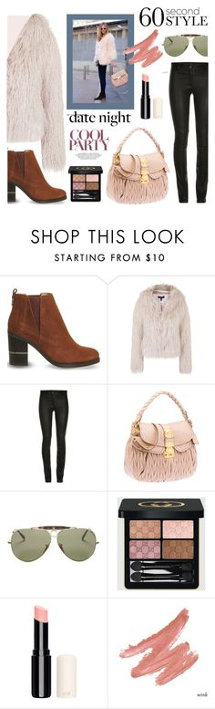 """""""Last Minute Date"""" by bysc ❤ liked on Polyvore featuring Office, Topshop, Ray-Ban and Gucci"""