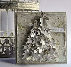 Dorota_mk OMG - simply stunning tree made out of die-cuts... there is a tutorial on how she did this on a similar post on the blog... so easy when it's broken down into stages!