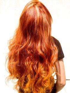 ginger red balayage - Google Search