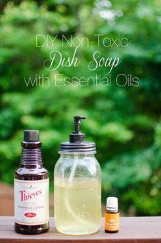 Easy DIY Dish Soap using Essential Oils
