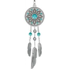 Buy Thomas Sabo Turquoise And Zirconia Dreamcatcher Pendant at Hugh Rice Jewellers. Free delivery on Thomas Sabo. Bijoux Thomas Sabo, Style Boho, Perfect Christmas Gifts, Jewelry Packaging, Turquoise Stone, Sterling Silver Pendants, Women Jewelry, Jewels, Inspired