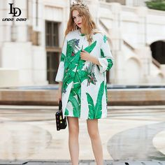 Women's Banana leaf Printed Beaind Jacquard Cotton Trench Coat $136.57   => Save up to 60% and Free Shipping => Order Now! #fashion #woman #shop #diy  http://www.clothesdeals.net/product/ld-linda-della-2016-runway-trench-coat-autumn-winter-womens-high-quality-banana-leaf-printed-beaind-jacquard-cotton-trench-coat