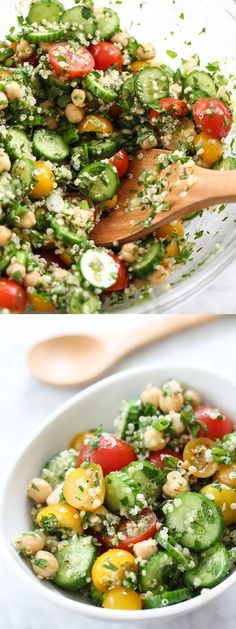 Quinoa Tabbouleh with Chickpeas #healthy #lunch #salald