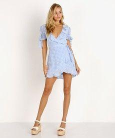 59341ccb1e For Love   Lemons Sweatheart Wrap Mini Dress Periwinkle CD1725R-SU18 - Free  Shipping at. Largo Drive