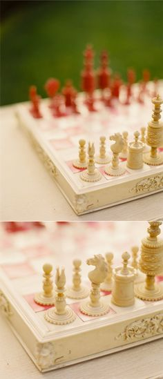 Fabulously carved set & board!