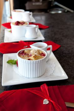 Caramelized Raspberry White Chocolate Bread Pudding: Made with Hood® Light Cream and Hood® Whole Milk in the 2011 Hood® New England Dairy Cook-Off. To learn about this year's cook-off, please visit www.hoodcookoff.com.