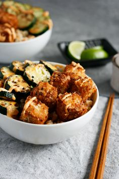 Coconut Crusted Tofu with Sweet Chili Sauce