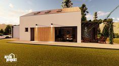Projekt rodinného domu s názvom Castello, je dvojpodlažný dom s celkovou úžitkovou plochou 144,80 m². Dom ponúka na prízemí dostatok priestoru pre obývaciu izbu a kuchyňu s jedálenskou časťou, izbu, samostatné odvetrané WC a kúpeľňu, sklad potravín, garáž a skladovaciu miestnosť. Chodby sú navrhnuté s ohľadom pre úložný priestor typu roldor. Z obývacej izby je schodiskom sprístupnené poschodie, ktoré ponúka okrem malej kúpeľne spálňu a veľkú izbu s panoramatickým oknom a prístupom na terasu. Home Fashion, Mansions, House Styles, Home Decor, Decoration Home, Manor Houses, Room Decor, Villas, Mansion