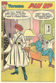 Veronica pin-up, from Betty and Veronica #159, 1969 by jl.incrowd, via Flickr