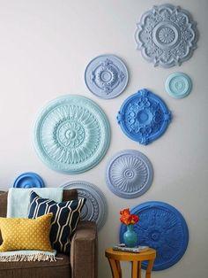 """Résultat de recherche d'images pour """"rosace plafond bleu"""""""