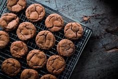Smoky Cardamom Ginger-Molasses Cookies: a crisp-on-the-outside, chewy-on-the-inside wintery cookie.