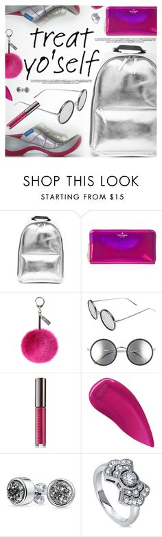 """""""It's Time to Treat Yo'Self!"""" by regettacanoe ❤ liked on Polyvore featuring Kate Spade, Helen Moore, Linda Farrow, Chantecaille, Lipstick Queen, Bling Jewelry, BERRICLE, polyvoreeditorial, treatyoself and polyvoreset"""