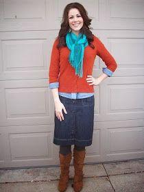 Fall color combo dream closet в 2019 г. fashion, skirt outfits modest и d. Skirt Outfits Modest, Denim Skirt Outfits, Dress Skirt, Dressy Dresses, Modest Dresses, Beautiful Outfits, Cute Outfits, Fall Outfits For Work, Modest Fashion