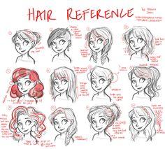 Hair tutorial (reference only) by LightJames.deviantart.com on @deviantART