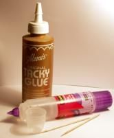 Just SOME of the many glues you can use for quilling ~!~