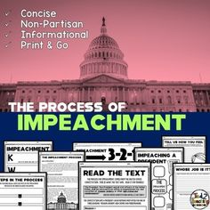 The Impeachment Process by Tied 2 Teaching Teacher Hacks, Teacher Pay Teachers, Homeschool, How To Become, How Are You Feeling, Classroom, The Unit, In This Moment, Teaching