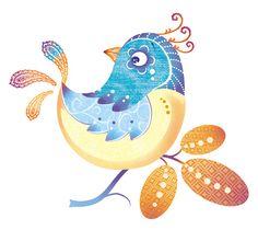 oiseau bleu et jaune
