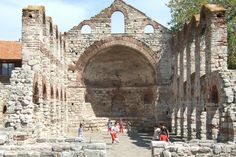 Church ruins in Sozopol, Bulgaria