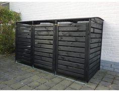 """PROMADINO Mülltonnenbox """"Vario III""""   In dem vielfältigen Angebot von PROMADINO wird jeder Gartenfreund fündig.     Für 3 Tonnen geeignet  Die massive Mülltonnenbox für 3 Tonnen lässt unansehnliche Mülltonnen einfach verschwinden...."""