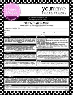 Portrait Photography Contract Template Luxury Graphy forms Portrait Agreement Contract and Model Photography Contract, Photography Pricing, Photography Marketing, Photography 101, Photography Projects, Photography Business, Photography Tutorials, Portrait Photography, Portrait Poses
