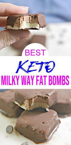 Keto fat bombs you won't be able to pass up! {Easy} low carb keto fat bomb recipe for the best candy Milky Way fat bombs. Perfect for ketogenic diet w/ keto friendly ingredients. Chocolate Fat Bombs, Chocolate Recipes, Keto Fat, Low Carb Keto, Low Carb Desserts, Dessert Recipes, Dinner Recipes, Lunch Recipes, Fat Bombs Low Carb