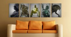 """This series is called """"The Legends"""", and it's going up in my living room.   Pop Culture Splatter 
