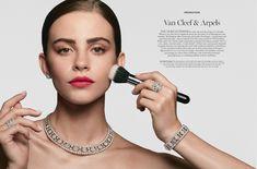 Bridget Satterlee for Harrods Magazine Bridget Satterlee, Contemporary Photographers, Van Cleef Arpels, Harrods, Make Up, Drop Earrings, Face, Poppy, Fashion Models