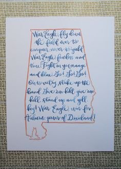Auburn fight song print
