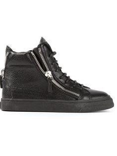 5521a887d564 Shop Giuseppe Zanotti Design zipped hi-top sneakers in Biondini Paris from  the world s best independent boutiques at farfetch.com. Over 1000 designers  from ...