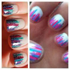 Cute nail idea!! Did them myself!!!