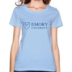 84dde95a819 Gosts Emory University Logo SkyBlue T Shirt For Womens XS