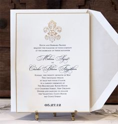 Scriptura - Laurel Wreath Wedding Invitation
