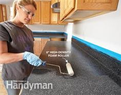 Rust-Oleum's new Countertop Transformations coating system - works over wood and laminate counter tops - step by step instructional on this page!