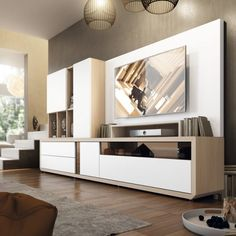 Modern Living Room Wall Units Ideas Storage Inspiration – Decorating Ideas - Home Decor Ideas and Tips Living Room Wall Units, Living Room Cabinets, Living Room Modern, Living Room Decor, Tv Cabinets, Modern Cabinets, Home Interior, Interior Design Living Room, Living Room Designs