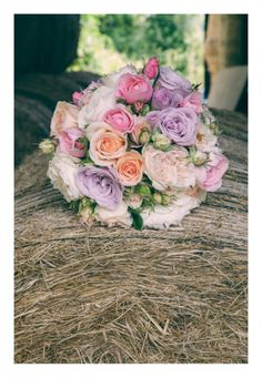 Pink and purple wedding bouquet Mckenzie Brown Photography » Wedding Photography Blog