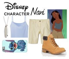 """Disney Character Costume: Nani"" by chinesedragon88 ❤ liked on Polyvore featuring Disney, Uniqlo, MANGO, Soda, Dogeared, Halloween, contestentry, 60secondstyle and disneycharactercostume"