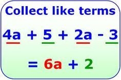 Example of collecting like terms