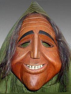 Chrottni Mask. Flums, St. Gallen Canton, Switzerland. Made by Peter Cavelti c1975.